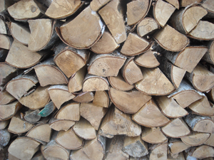 photo of stacked firewood